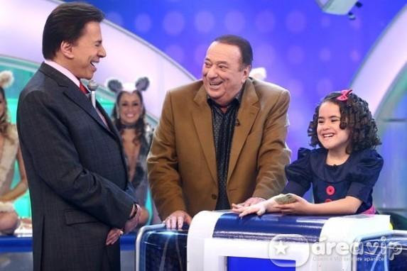 Silvio Santos - Raul Gil - Maisa (Foto: Roberto Nemanis/SBT)