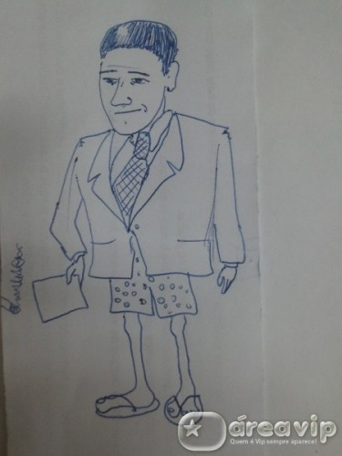 Caricatura deixa William Bonner de ceroula, no Twitter