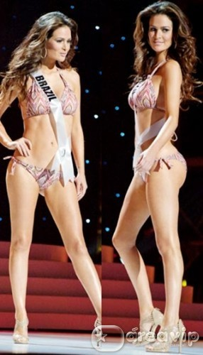 Miss Brasil, Priscila Machado passa por uma saia justa
