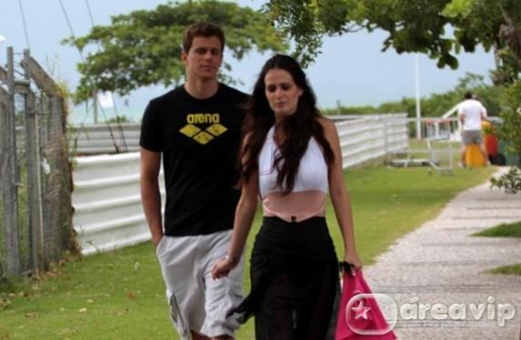 Chega ao fim o namoro de Cesar Cielo com Priscila Machado, ex-miss Brasil
