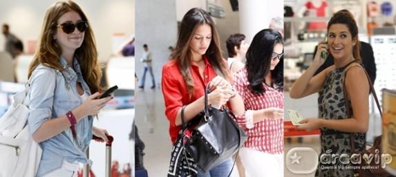 Famosas são clicadas em aeroporto do Rio