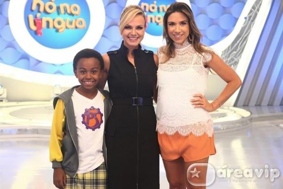 "Eliana recebe Patricia Abravanel e Jean Paulo Campos no ""Nó na Língua"""
