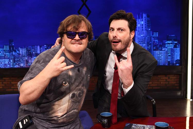 Astro de Hollywood Jack Black se diverte com Danilo Gentili no 'The Noite'