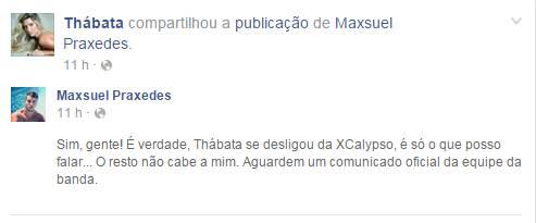 Reprodução/Facebook/Thabata