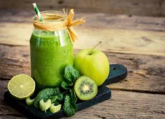 Imagem de um Smoothie Verde, uma ótima opção para a desintoxicação do organismo. (Reprodução/Google)