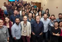 Gugu e equipe (Edu Moraes/Record TV)