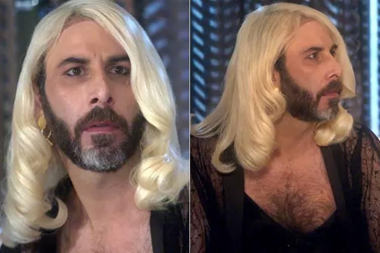 A Lei do Amor - Hércules encarna Mág em programa com Aline (Reprodução/TV Globo)