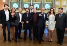 Apresentadores no Ratinho (Francisco Cepeda/SBT)