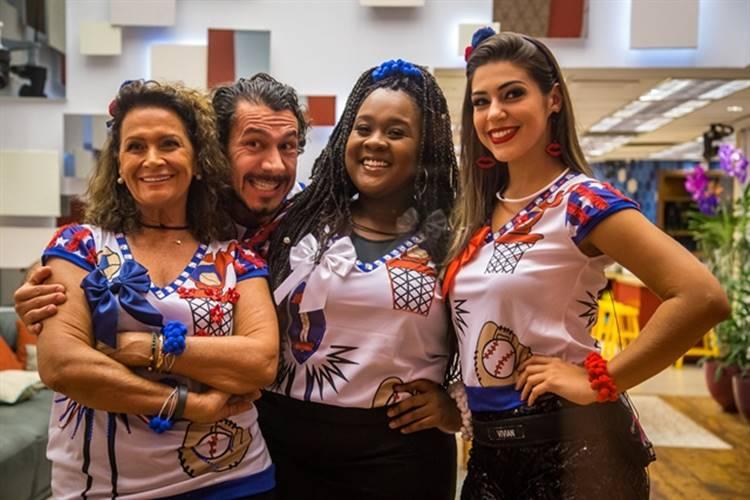 BBB17 - Ieda - Rômulo - Roberta - Vivian (Globo/Paulo Belote)