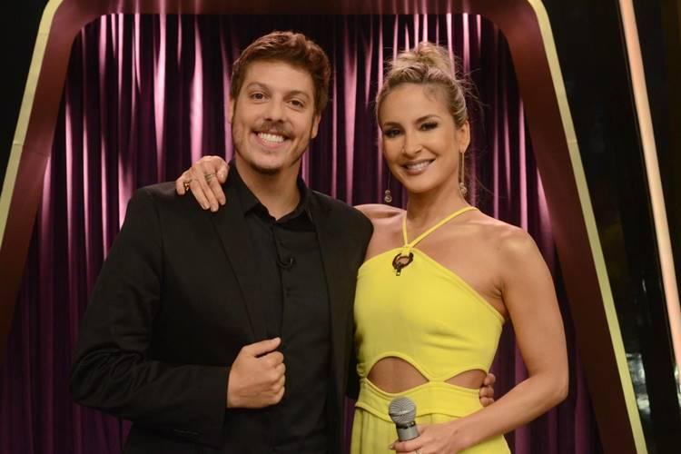 Fabio Porchat e Claudia Leitte (Antonio Chahestian/Record TV)