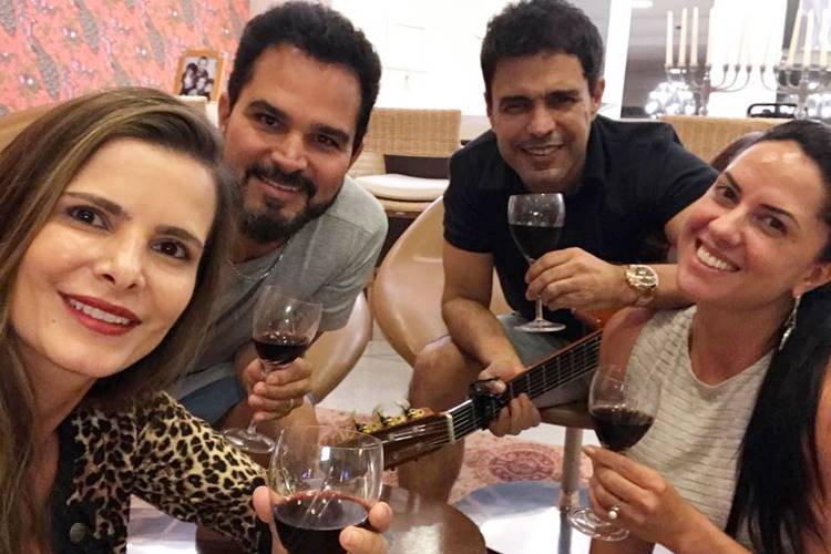Flávia e Luciano - Zezé e Graciele/Instagram