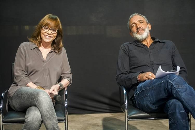 Glória Perez e Rogério Gomes ( Globo/João Miguel Júnior)
