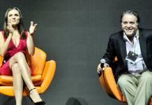 Monica Iozzi e Tony Ramos (Globo/Reinaldo Marques)