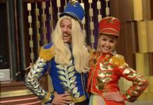 Porchat e Bianca Rinaldi (Antonio Chahestian/ Record TV)