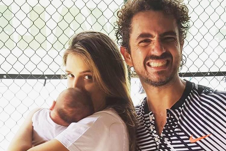 Rafa Brites com o filho e Felipe Andreoli/Instagram