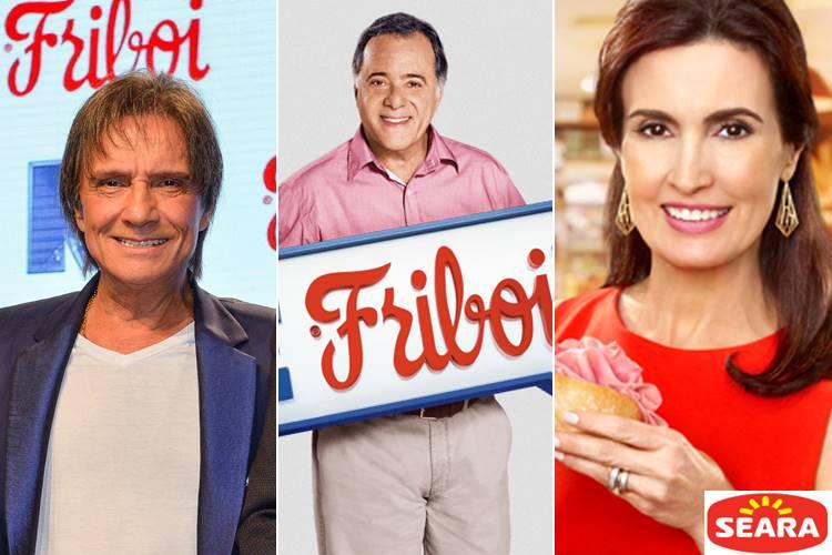 Roberto Carlos, Tony Ramos e Fátima Bernardes / Reprodução
