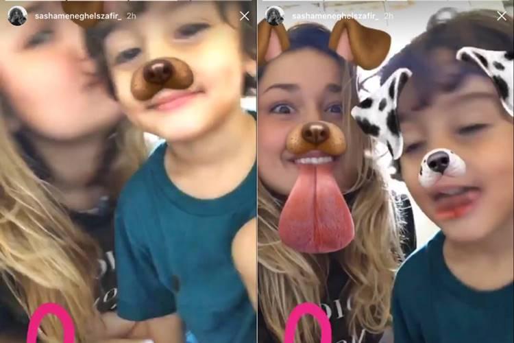 Sasha com o irmão/Instagram
