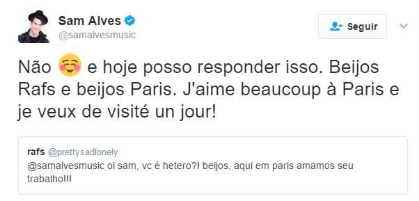 Twitter - Sam Alves/Reprodução