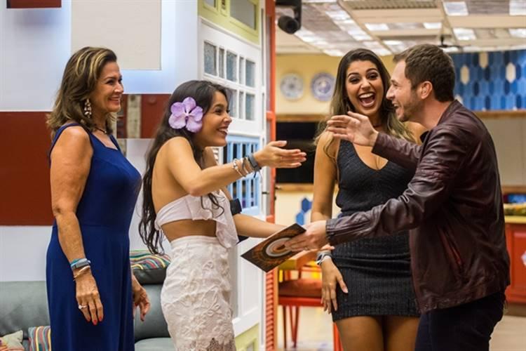 BBB17 - Ieda - Emilly - Vivian e Leifert (Globo/Paulo Belote)