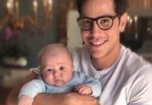 Christian Chavez com o filho de Anahí/Instagram