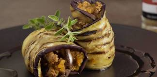 Enroladinho de berinjela com carne/Divulgação