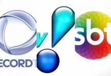 Logo - Record TV - Rede TV - SBT/Reprodução