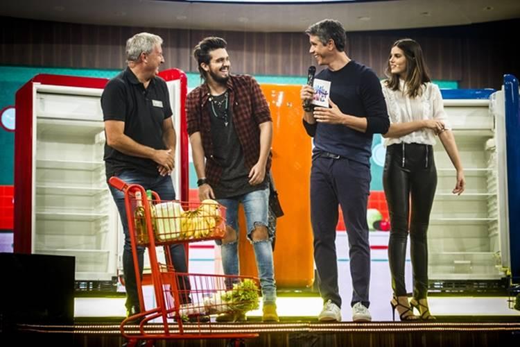 Luan Santana - Marcio Garcia - Camila Queiroz (Globo/João Miguel Júnior)