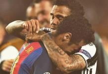 Neymar e Daniel Alves/Instagram