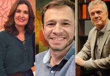 Fátima Bernardes, Tiago Leifert e Pedro Bial/ Instagram