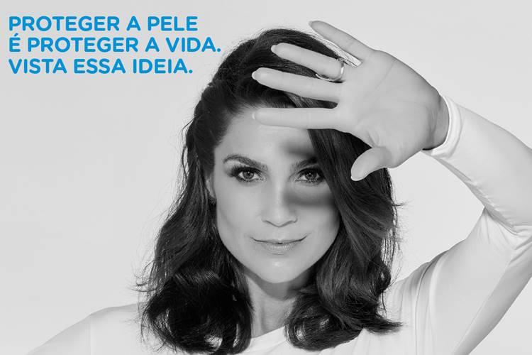 Flávia Alessandra estrela campanha preventiva contra o melanoma