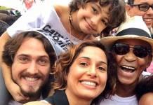 Igor Angelkorte, Camila, Antônio e Antônia Pitanga/ Instagram