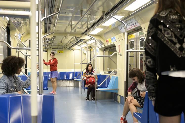 Malhação - As five no metrô (Globo/Ramón Vasconcelos)