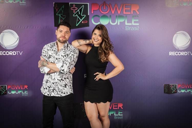 Nasser e Andressa (Edu Moraes e Antonio Chahestian/Record TV)
