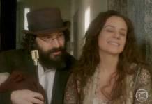Novo Mundo - Peter e Amália (Reprodução/TV Globo)