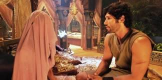 O Rico e Lázaro - Asher com a princesa Kassaia (Munir Chatack/Record TV)