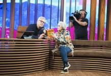 Pedro Bial e Rita Lee (Globo/Guilherme Samora)