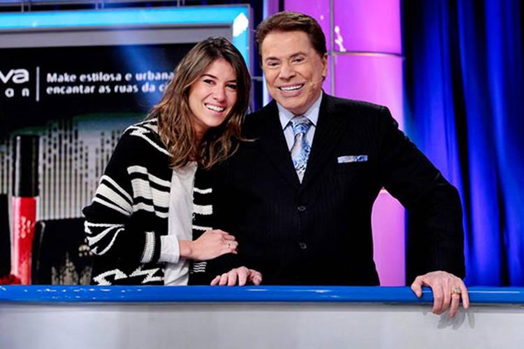 Rebeca Abravanel e Silvio Santos (Lourival Ribeiro/SBT)