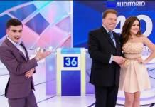Dudu Camargo, Silvio Santos e Maisa Silva (Reprodução/SBT)