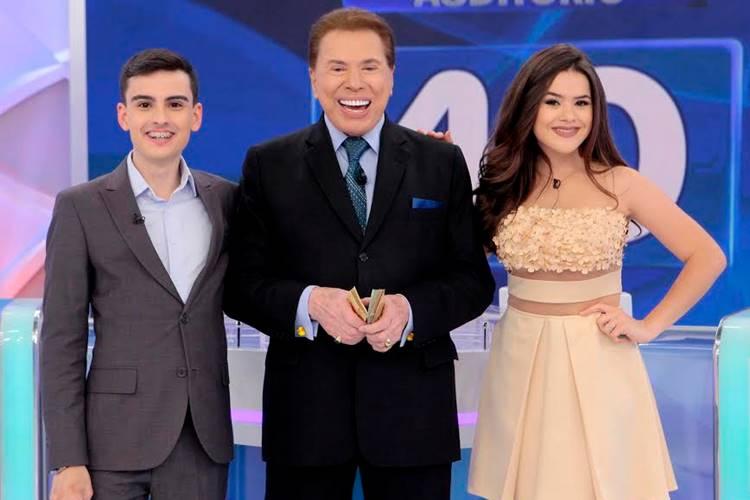 Dudu Camargo - Silvio Santos e Maisa (Lourival Ribeiro/SBT)