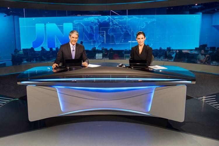 Jornal Nacional - William Bonner e Renata Vasconcellos (Globo/João Cotta)