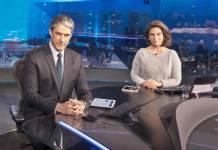 Jornal Nacional - William Bonner e Renata Vasconcellos (Globo/Sergio Zalis)