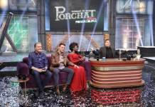 Justus - Nayara e Cairo - Fabio Porchat (Edu Moraes/Record TV)