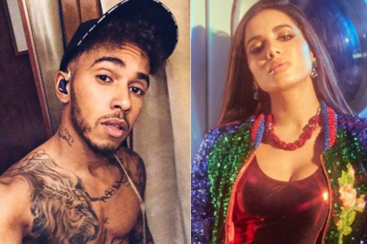 "Lewis Hamilton elogia Anitta e pede para seguidores ouvirem hit ""Paradinha"""