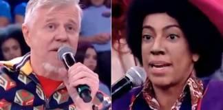 Miguel Falabella e Samantha Schmutz (Reprodução/TV Globo)