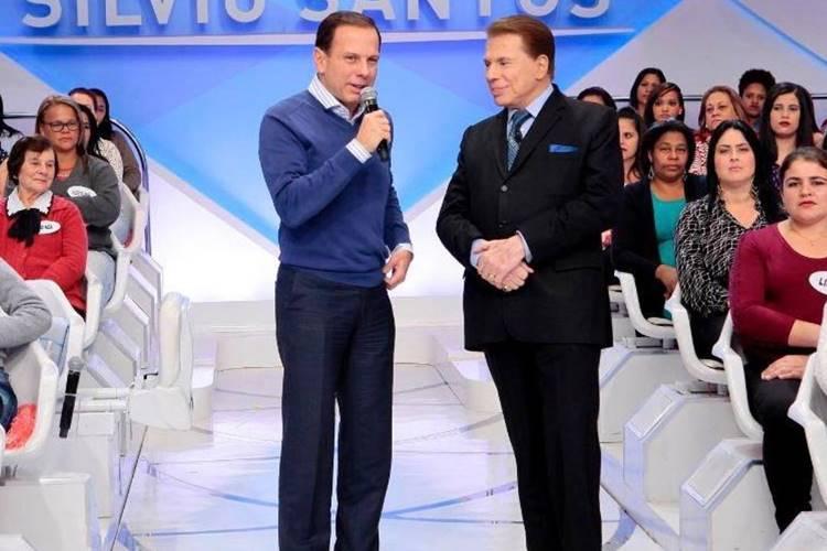 João Doria e Silvio Santos (Divulgação/SBT)