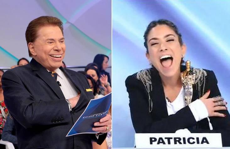 Silvio Santos e Patricia Abravanel no Jogo dos Pontinhos - Reprodução/SBT