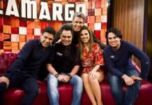Zezé Di Camargo, Wanessa e familiares no Tamanho Família (Reprodução/ Foto: João Miguel Júnior/TV Globo)