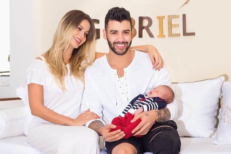 Andressa Suita - Gusttavo Lima com o filho/Instagram