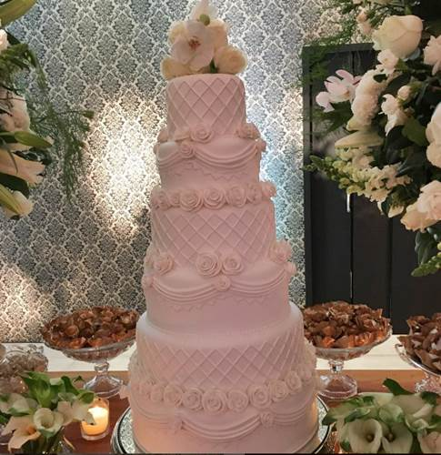 Bolo do Casamento - Robson Jassa e Poliana(Instagram/SoniaAbrao)