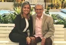 Carlos Alberto com a namorada/Instagram